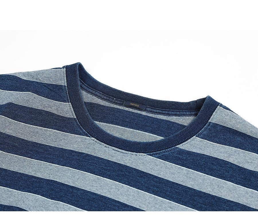2020 summer new striped T-shirt men 100% cotton