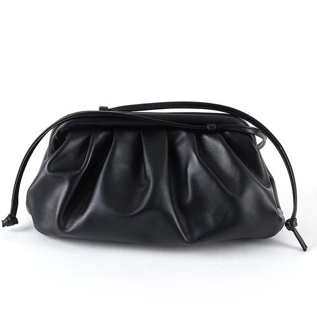 Soft Leather Single Shoulder Slant Dumpling Clutch Bag