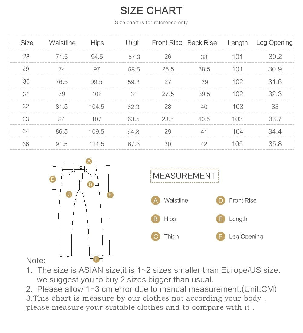 New slim fit jeans men fashion casual ripped hole denim