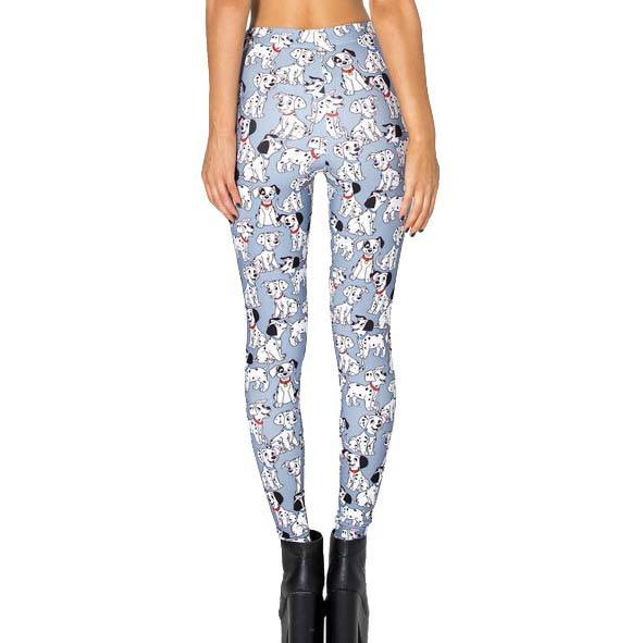101 Dalmatians Puppies All Over Print Stretch Leggings for Women in Blue | DOTOLY | DOTOLY