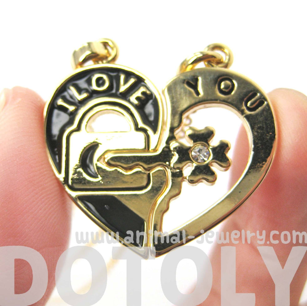2-piece-heart-shaped-lock-and-key-i-love-you-couple-necklace-in-gold