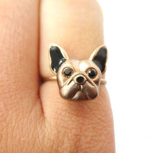 French Bulldog Face Shaped Animal Ring | Gifts for Dog Lovers