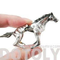 3D Horse Pony Shaped Animal Knuckle Joint Ring in Silver | Size 5 to 9
