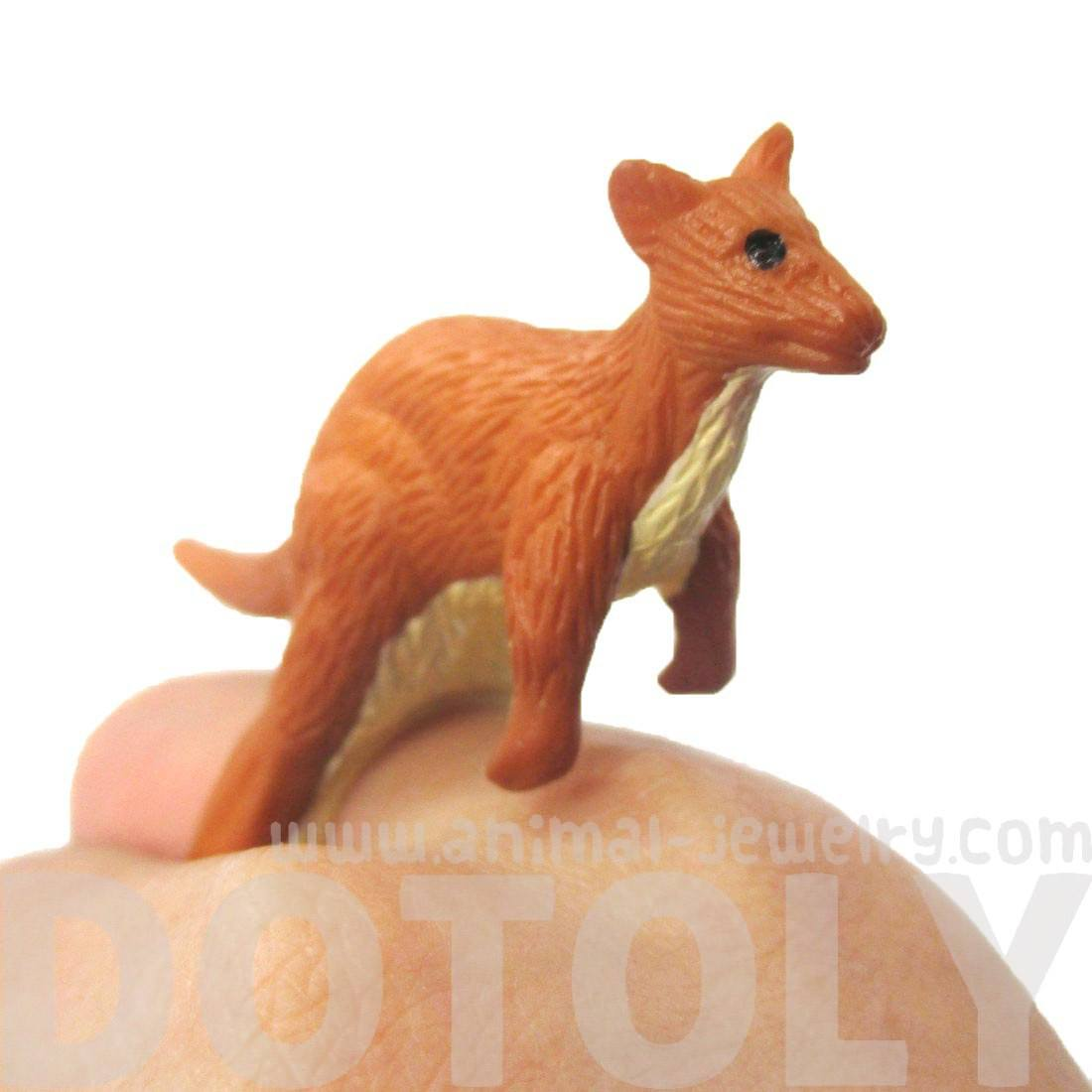 3D Adjustable Kangaroo Figurine Shaped Animal Wrap Ring for Kids