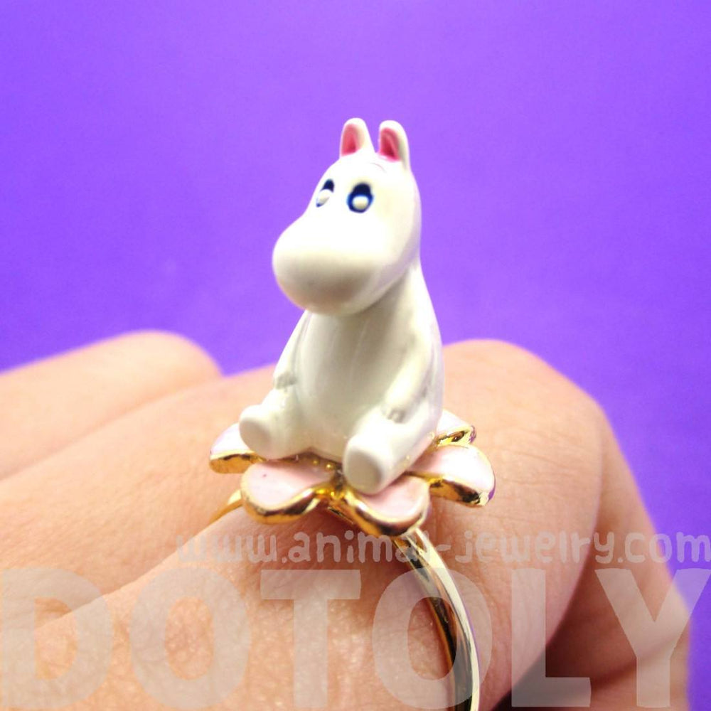 3D Moominmamma Hippo Shaped Moomin Adjustable Ring | DOTOLY | DOTOLY