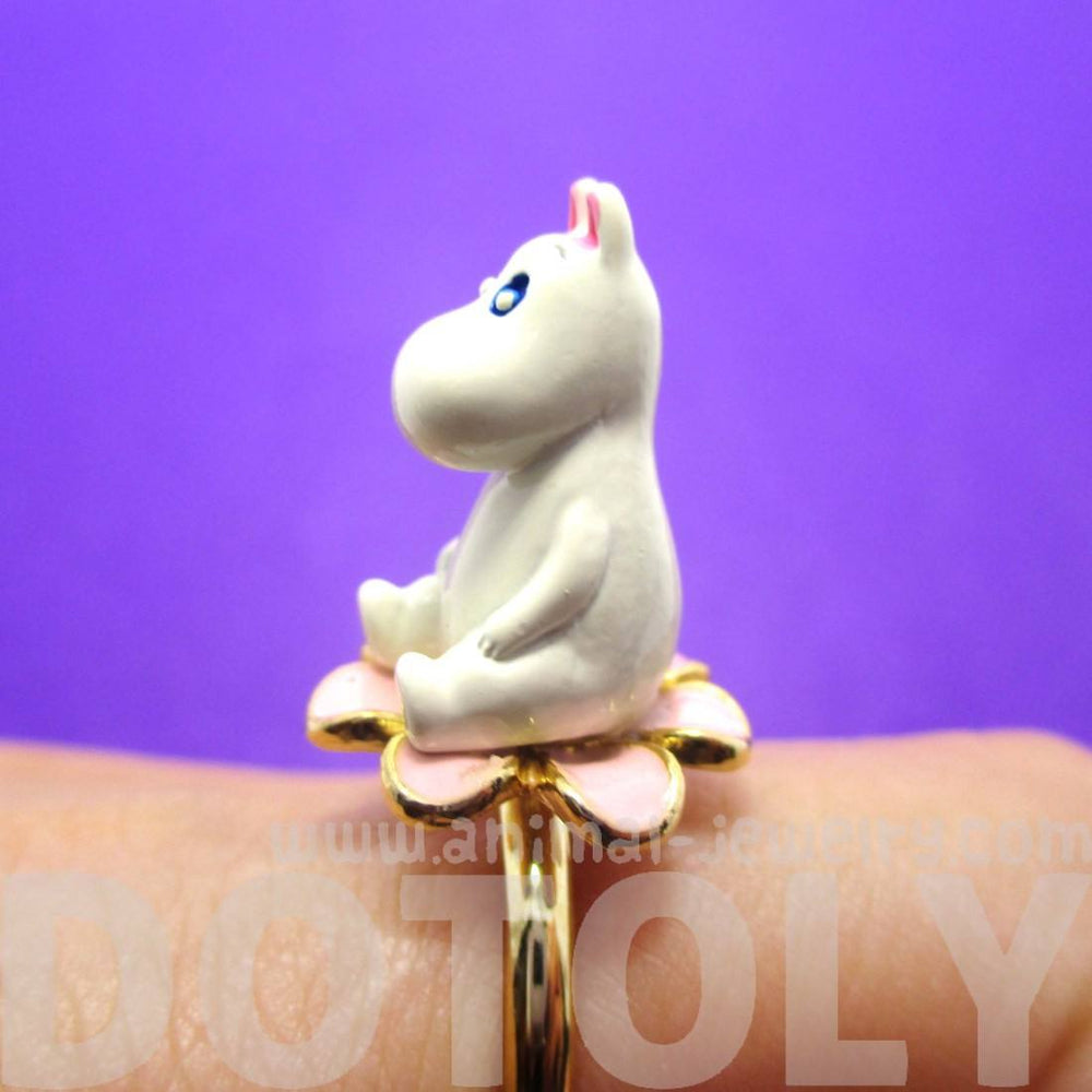 3D Moominmamma Hippo Shaped Moomin Adjustable Ring