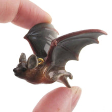 3D Porcelain Bat Shaped Animal Inspired Ceramic Pendant Necklace