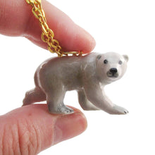 3D Porcelain Polar Bear Shaped Ceramic Pendant Necklace | DOTOLY