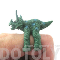 3D Triceratops Dinosaur Figurine Shaped Animal Wrap Ring for Children