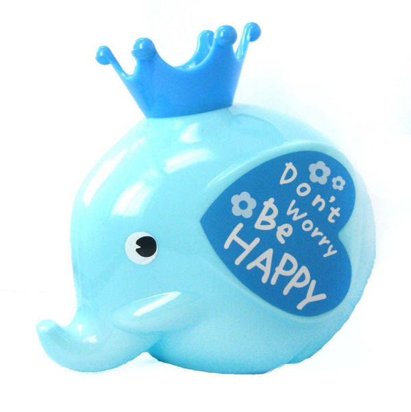 Adorable Elephant Shaped Money Box Piggy Coin Bank in Blue | DOTOLY | DOTOLY