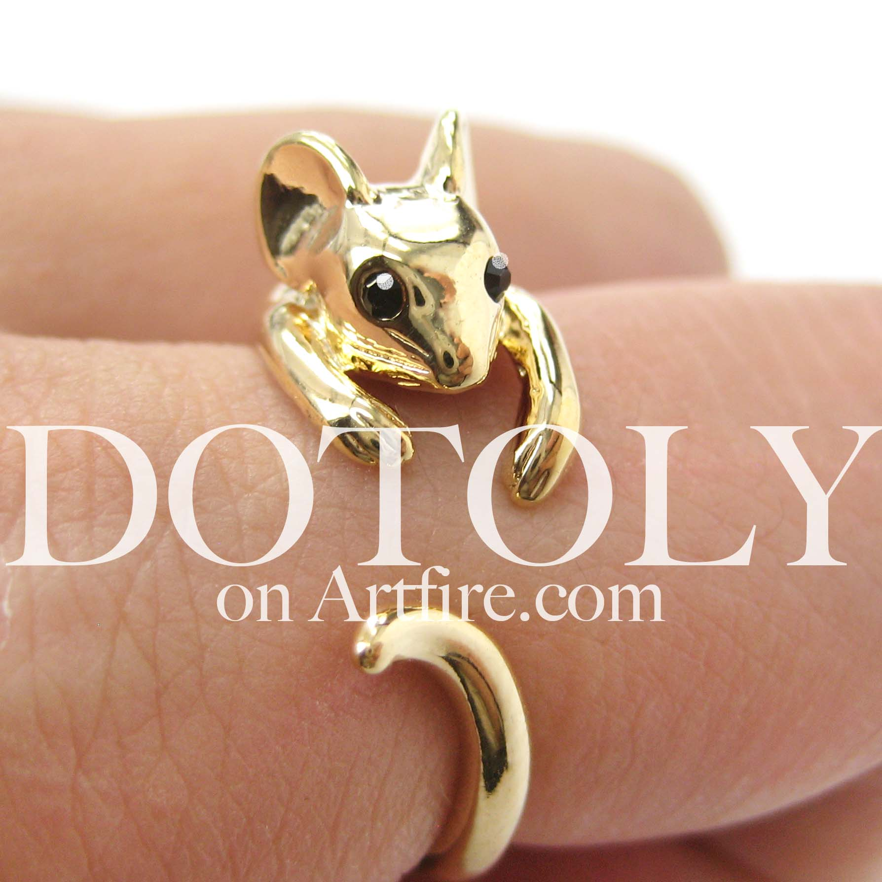 mouse-animal-wrap-ring-in-shiny-gold