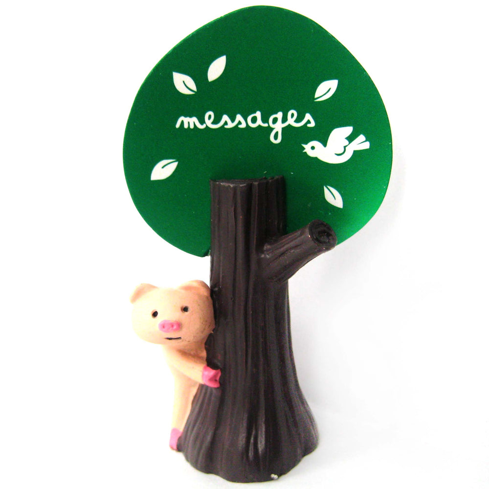 Adorable Piglet Pig Hide & Seek Animal Photo Stand Memo Holder | DOTOLY
