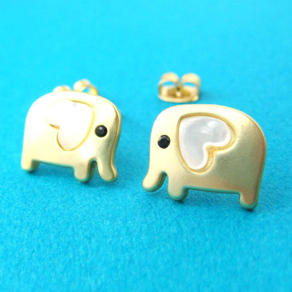 baby-elephant-shaped-animal-stud-earring-in-gold