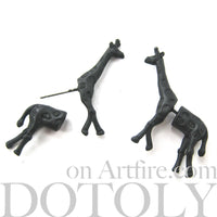 giraffe-animal-fake-gauges-black