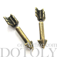 arrow-shaped-fake-gauge-earrings-bronze