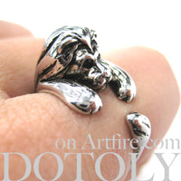 realistic-lion-animal-wrap-ring-in-shiny-silver