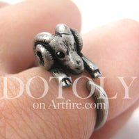 sheep-ram-animal-wrap-ring-in-silver