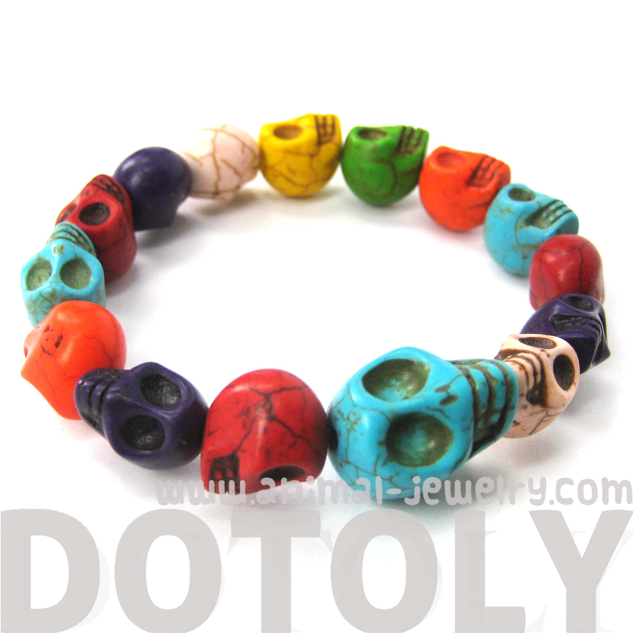 skeleton-agate-bead-rainbow-colored-skull-stretchy-bracelet