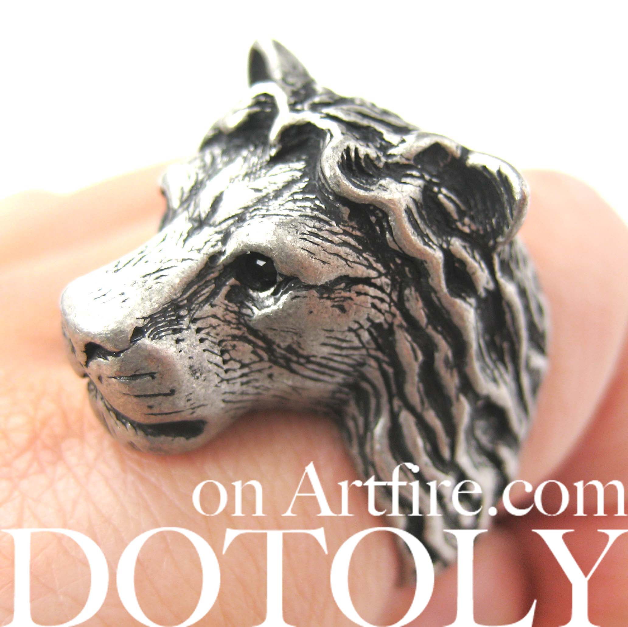 adjustable-lion-animal-realistic-ring