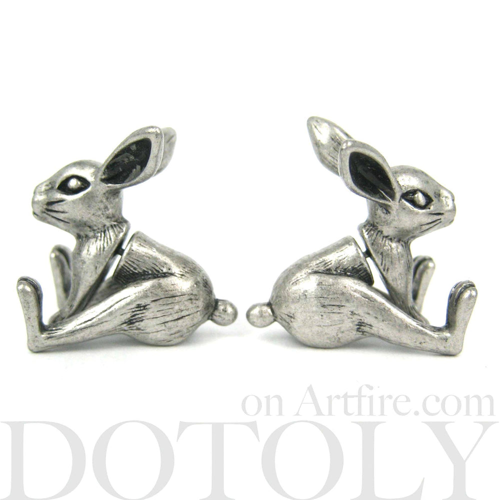 bunny-rabbit-animal-jewelry-fake-gauges-silver