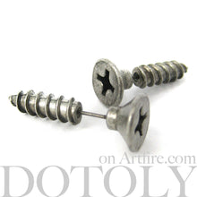 fake-guage-screw-shaped-stud-earrings-silver-dotoly