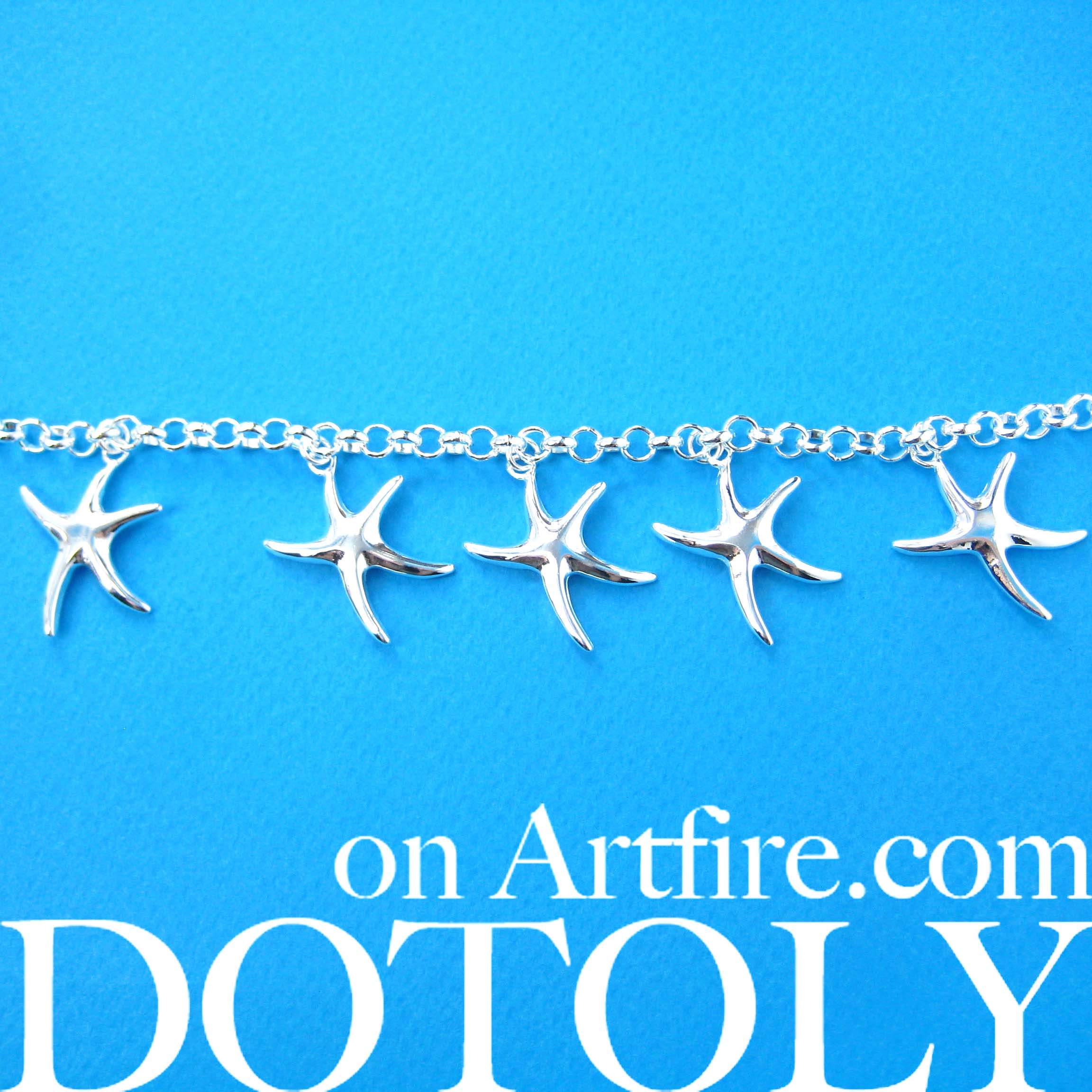 starfish-charm-star-shaped-linked-bracelet-in-silver