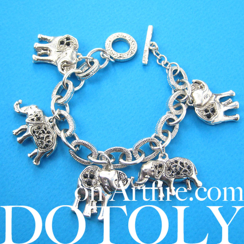 elephant-linked-animal-charm-bracelet-in-silver