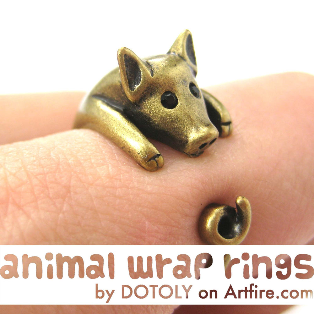 pig-piglet-animal-wrap-ring-in-brass