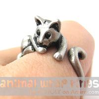 relaxing-kitty-cat-animal-wrap-ring-in-silver