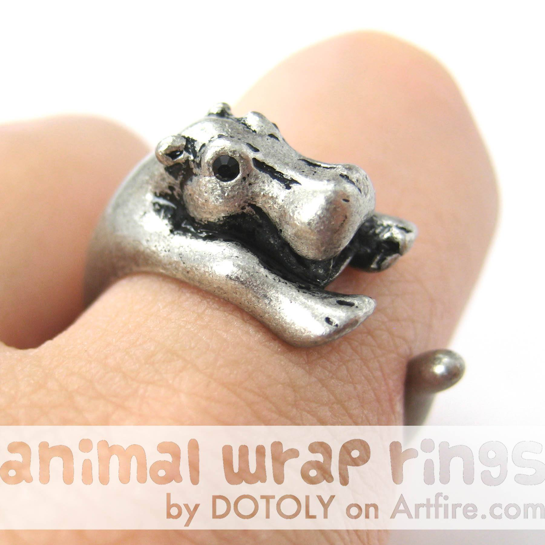 hippo-hippopotamus-animal-wrap-ring-in-silver