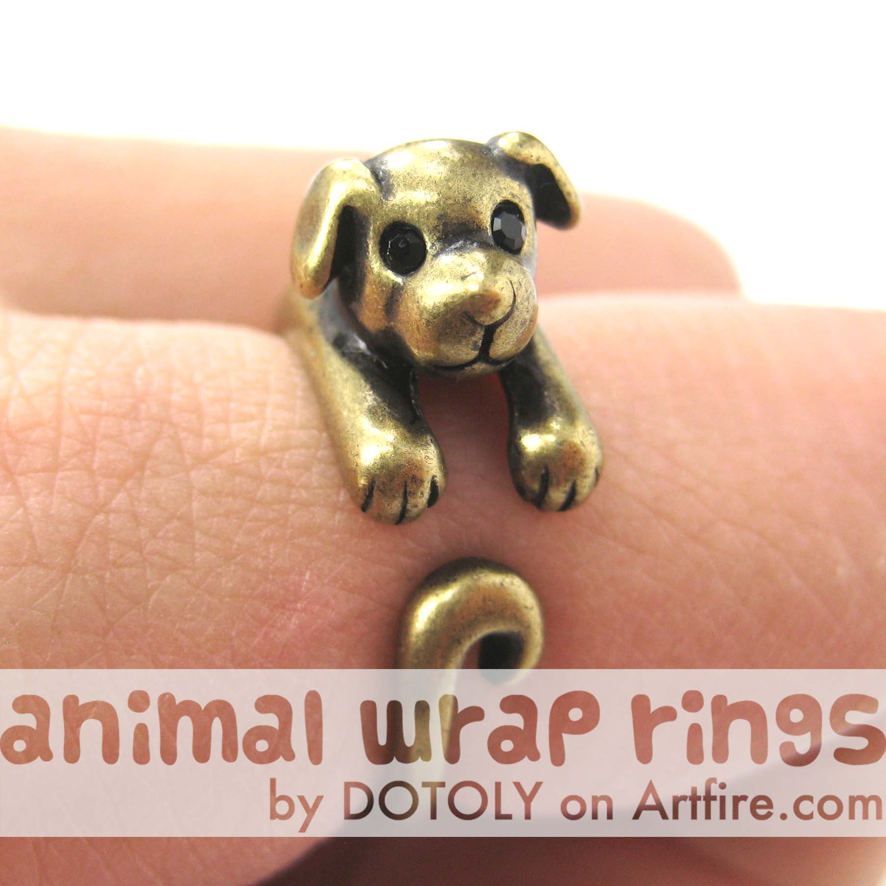 puppy-dog-animal-wrap-ring-in-brass