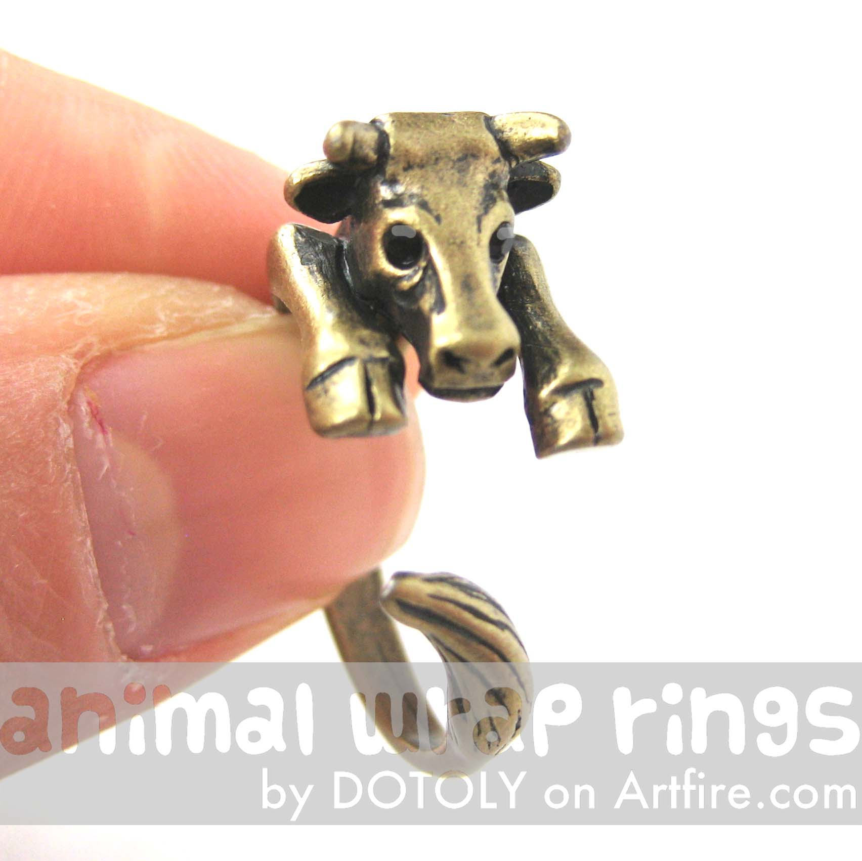 cow-bull-animal-wrap-ring-in-brass