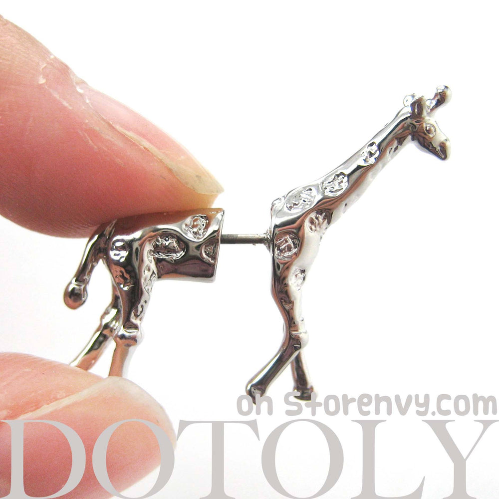 giraffe-animal-fake-gauge-earrings-silver-dotoly