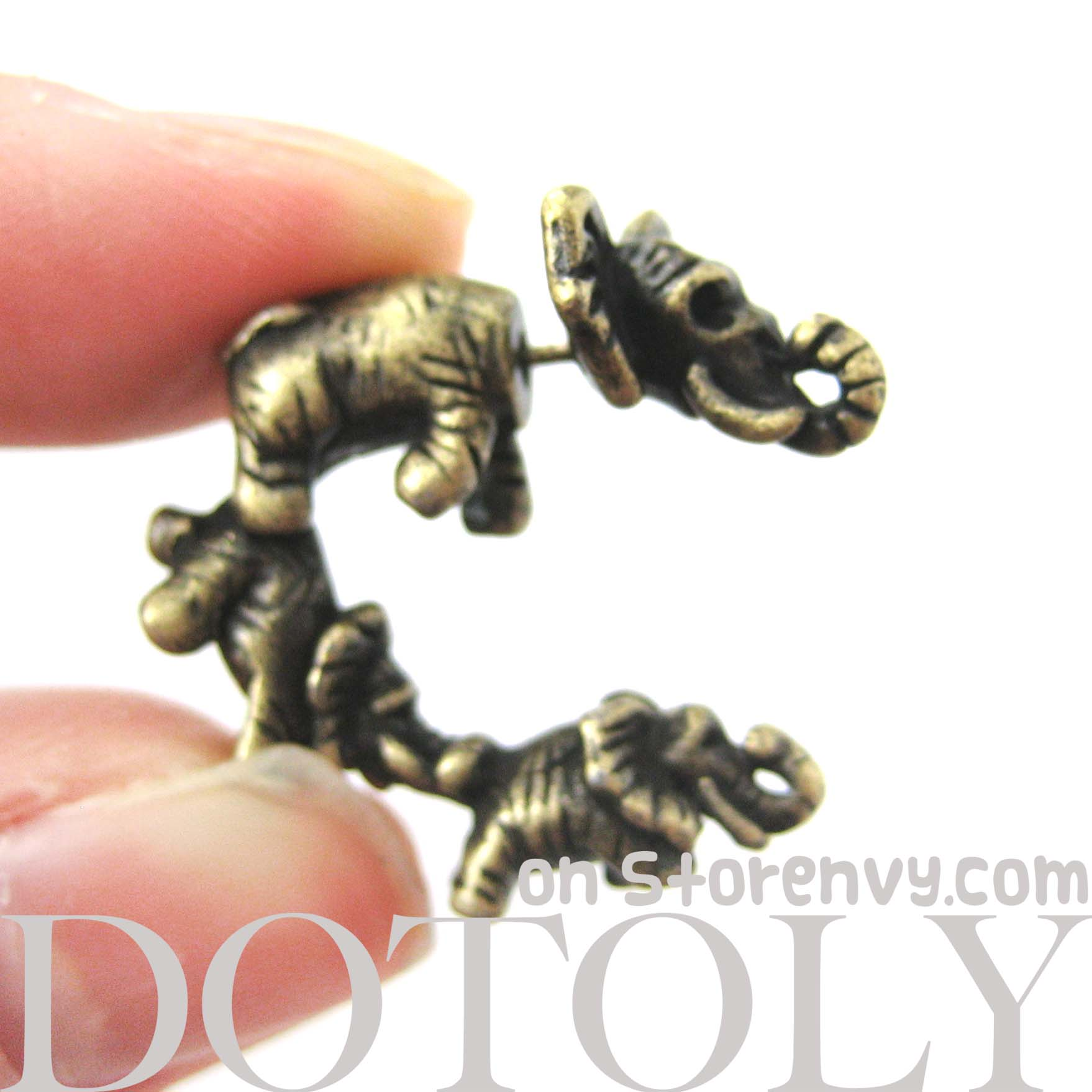 fake-gauge-earrings-elephant-animal-jewelry