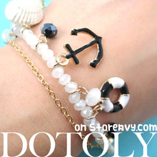 anchor-nautical-charm-bracelet-in-black-on-white-dotoly