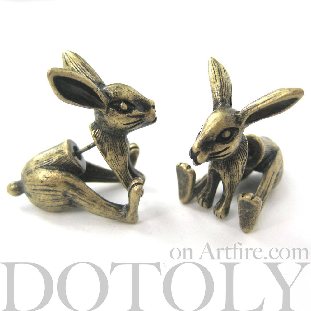 bunny-rabbit-animal-fake-gauges-brass-cute