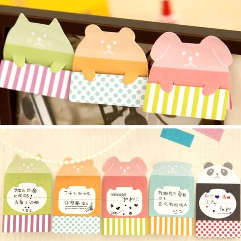 Cute Puppy Dog Animal Themed Adhesive Memo Message Post-it Letter Pad