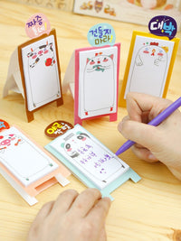 Illustrated Chicken Bird Animal Themed Sticky Post-it Pad from Korea