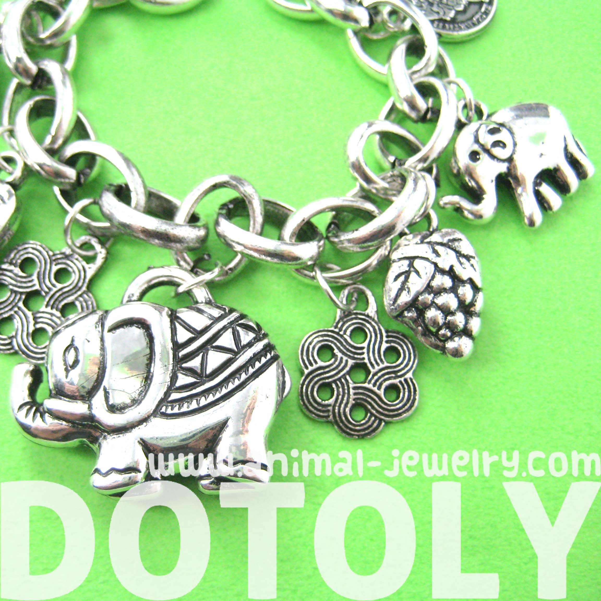 abstract-elephant-coin-charm-bracelet-in-silver
