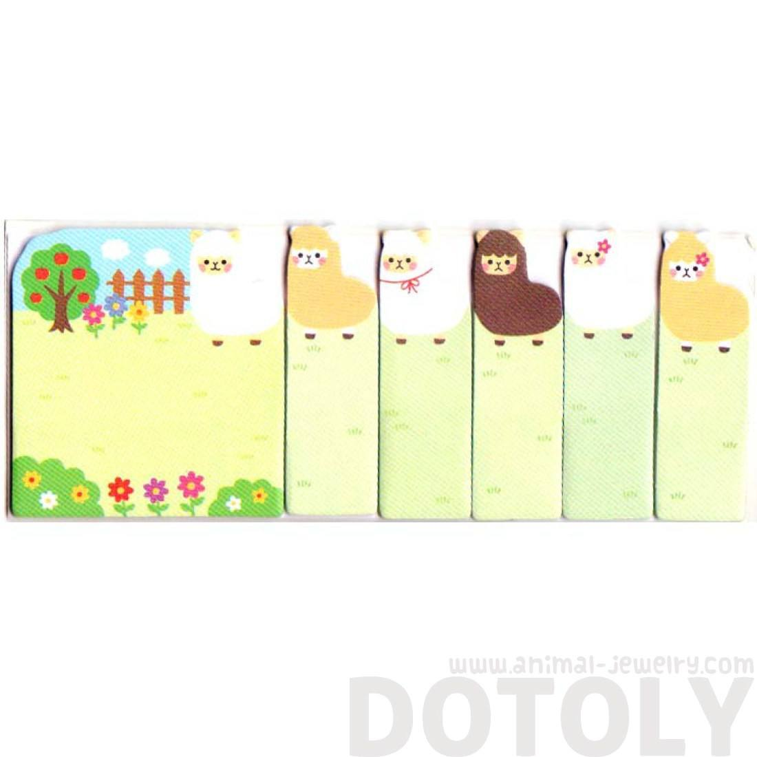Alpaca llama Shaped Animal Themed Memo Pad Post-it Index Sticky Tabs