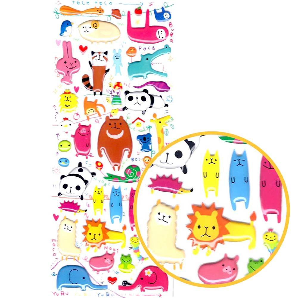 adorable-and-colorful-mixed-animal-illustration-stickers-for-scrapbooking-and-decorating