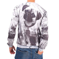Adorable Baby Pug Puppy Dog Graphic Print Unisex Pullover Sweater