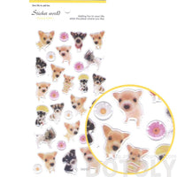 Adorable Baby Puppy Dog Animal Shaped Photo Print Decorative Stickers