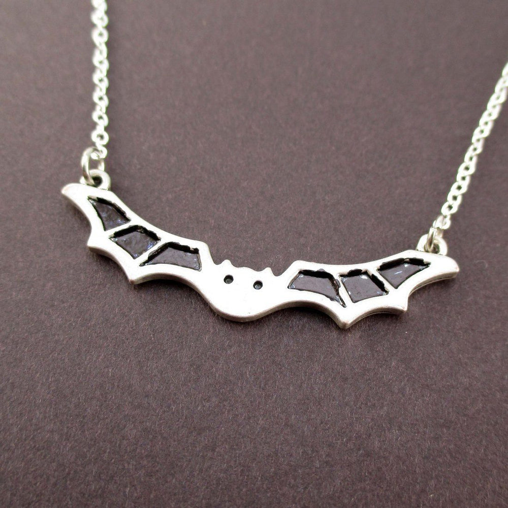 Adorable Bat Shaped Pendant Necklace in Silver | Animal Jewelry | DOTOLY