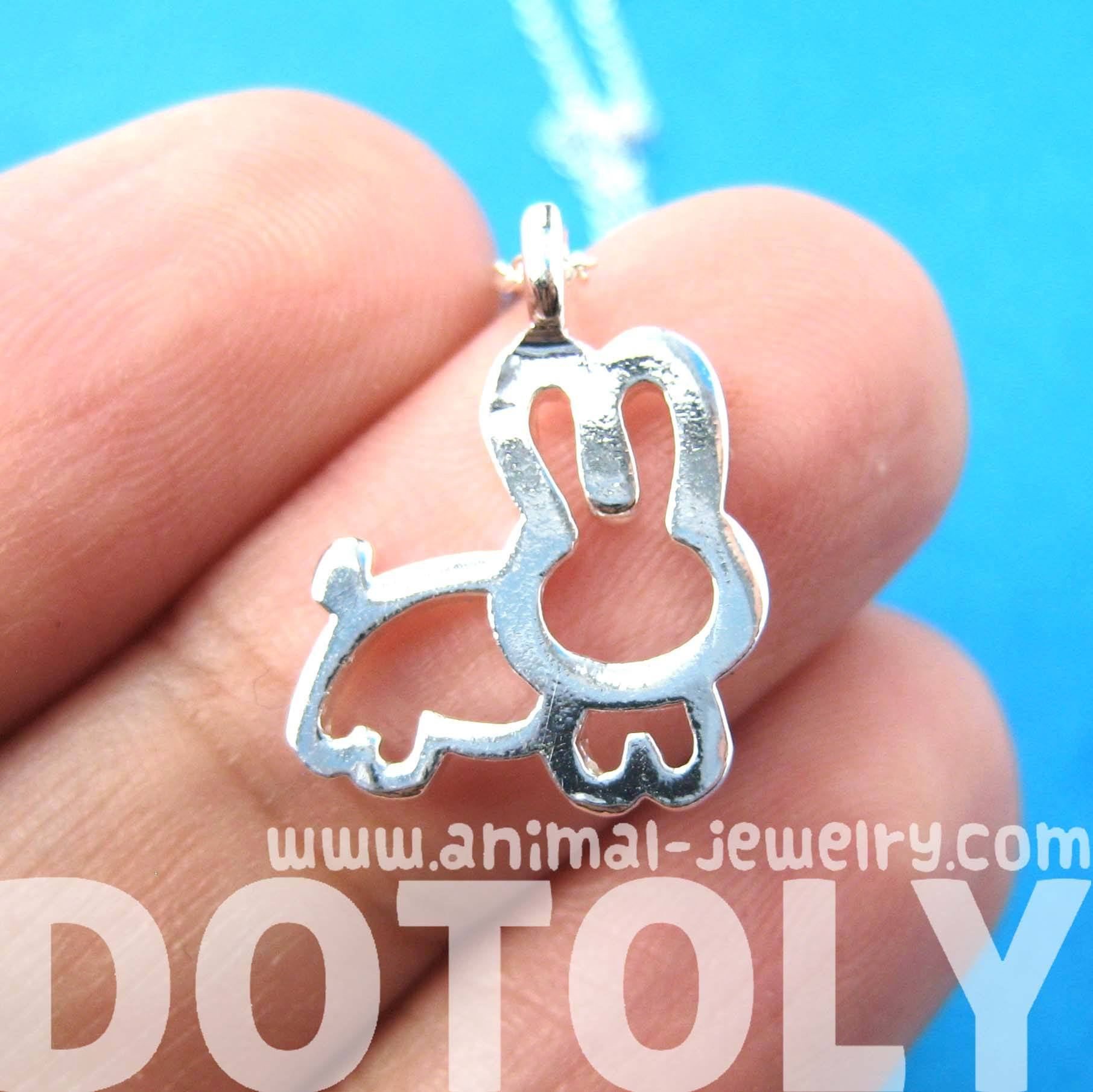 adorable-bunny-rabbit-animal-outline-pendant-necklace-in-silver-dotoly