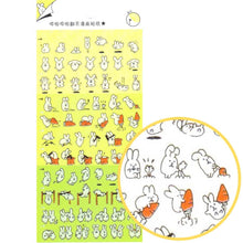 Bunny Rabbit Cartoon Flip Book Storytelling Stickers
