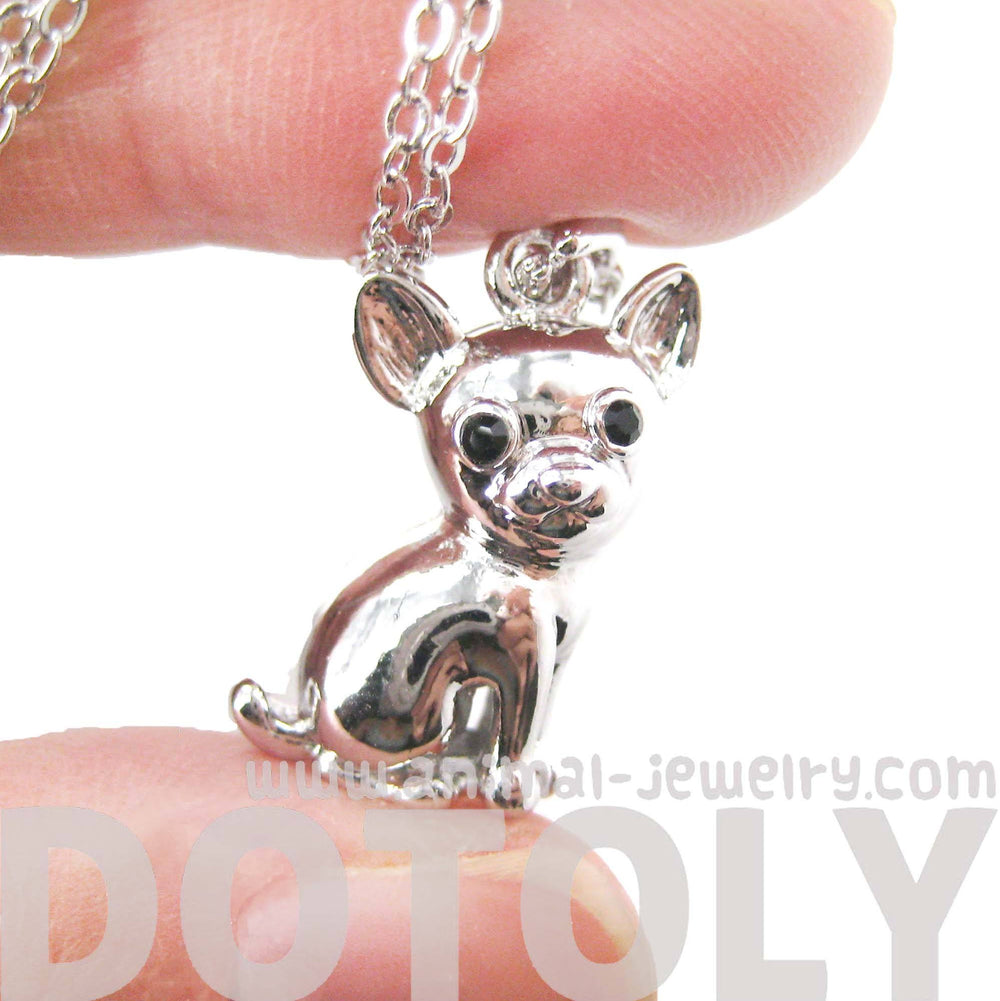 adorable-chihuahua-puppy-dog-shaped-animal-pendant-necklace-in-silver