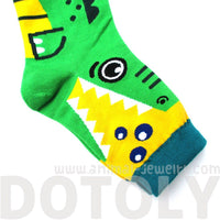 Adorable Crocodile Alligator Bite Socks Animal Shaped Cotton Socks