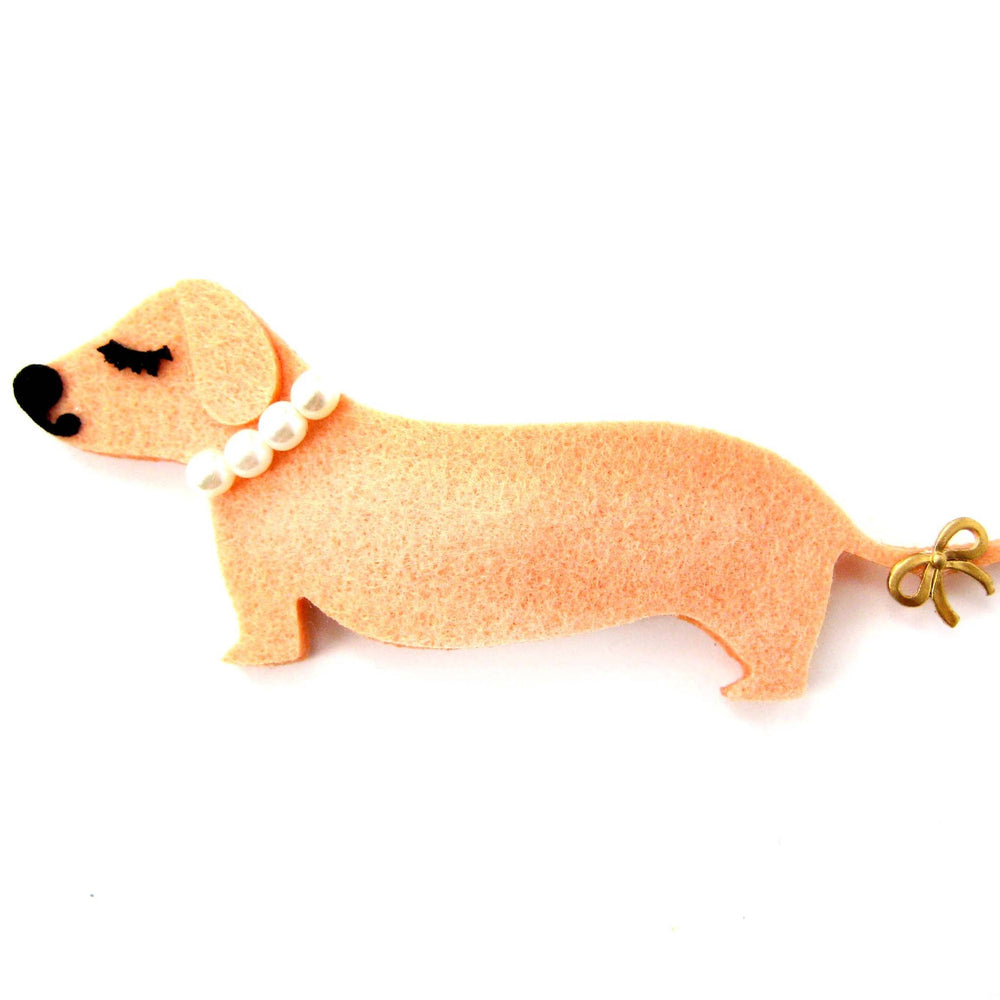 Adorable Dachshund Puppy Dog Animal Shaped Snap On Hair Clip | Handmade | DOTOLY