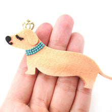 adorable-dachshund-puppy-dog-animal-shaped-snap-on-hair-clip-with-crown-detail